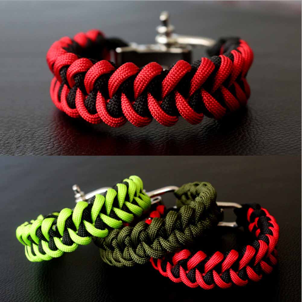 fishtail weave Emergency rope Hand Chain Travel Kits Outdoor camping life saving tool Wilderness survival emergency Bracelet(China (Mainland))