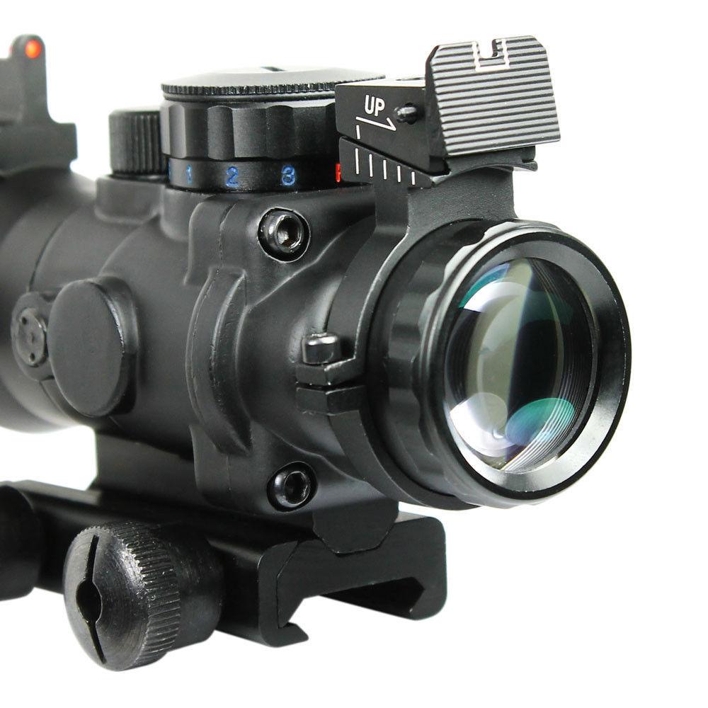 4X32 Tactical Hunting Rifle Scope W/ Tri-Illuminated Chevron Reticle Fiber Optic Sight Scope Rifle/Airsoft Gun Hunting Air soft<br><br>Aliexpress