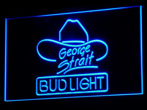 a116 Bud Light George Strait Bar Pub LED Neon Sign with On/Off Switch 7 Colors to choose(China (Mainland))