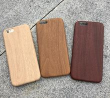 2016 luxury Wooden Pattern PU Cover For Apple iPhone 6 6s Case Wood Grain Soft Back Shell Phone cover free shipping