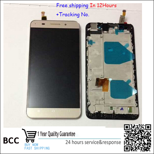 100%original!White,blackor golden  LCD Display +Touch Screen Digitizer Assembly For Huawei honor 4X  with frame free shipping от Aliexpress INT