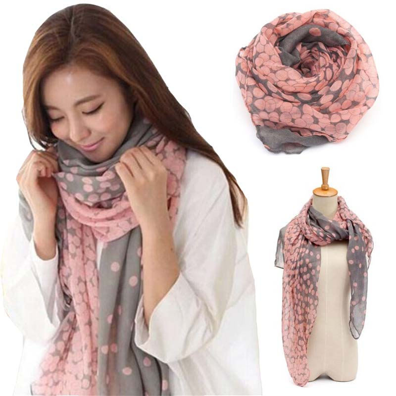 1pc fashion dots scarf large voile scarves