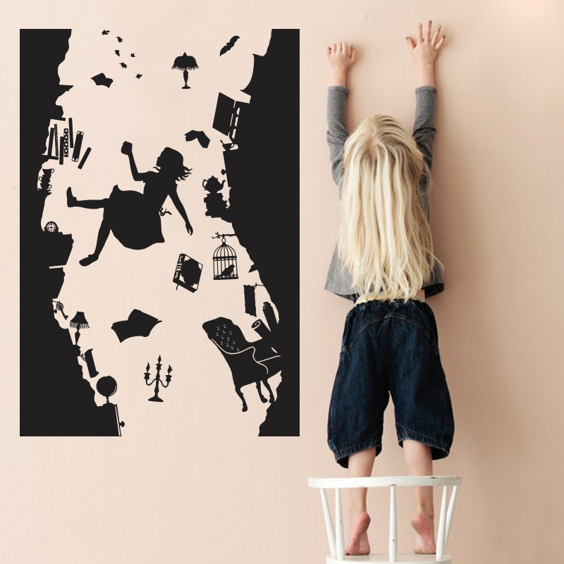 Com Buy Alice In Wonderland WALL STICKER Art Vinyl Home Decor