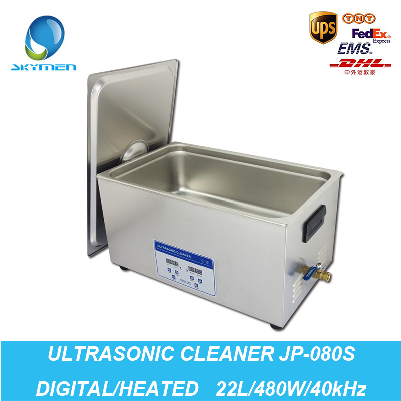 Ultrasonic Cleaner 22L Tank 480W 40kHz Baskets Jewelry Lavatrice Ultrasuoni Digital Heated Industry Ultrasonic Bath Cleaning(China (Mainland))