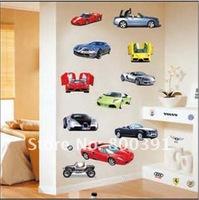 30 * 60 см ПВХ diy автомобилей стены стикеры, хорошее качество мультфильм детей номер деколь, фабрика непосредственно, tc1087
