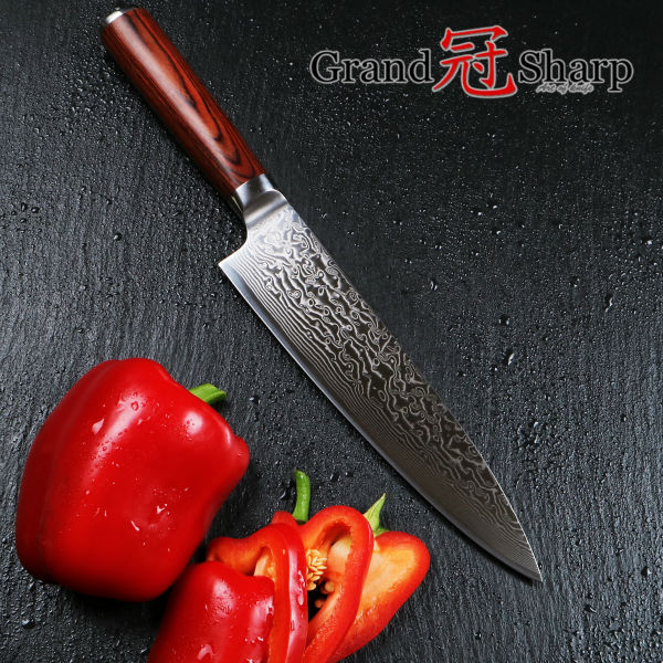 Buy NEW 8 Inch Professional Chef Knife 67 Layers Japanese Damascus Stainless Steel VG-10 Core Western Chef Knife Kitchen Knives cheap