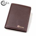 British Vintage Lychee Grain Men Wallet W162 Short Pu Male Purse Famous Brand Handbag British Vintage