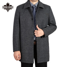 Wool Coat Men Business Casual Long Sections Woolen Coats Male Clothing Brand Men's Jackets Single Breasted Overcoat 4XL 3XL(China (Mainland))