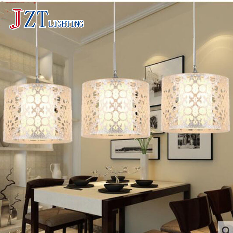 T LED Creative Pendant Lights for Bar coffee shop Simple Silver Acrylic lamps for The corridor 15W 3 lights best price!!(China (Mainland))