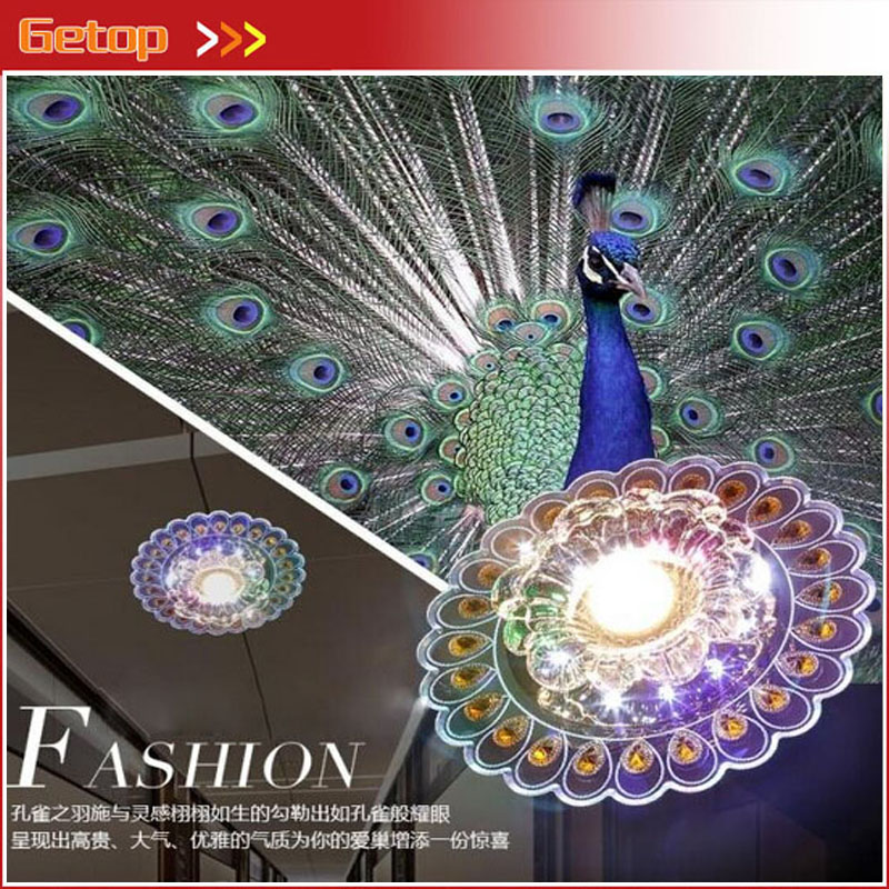 ZX Modern Lustre Crystal LED Chip Ceiling Lamp 6pcs/lot Concealed/Open Installation Corridor Foyer Peacock/Flower Rattan Lamp(China (Mainland))
