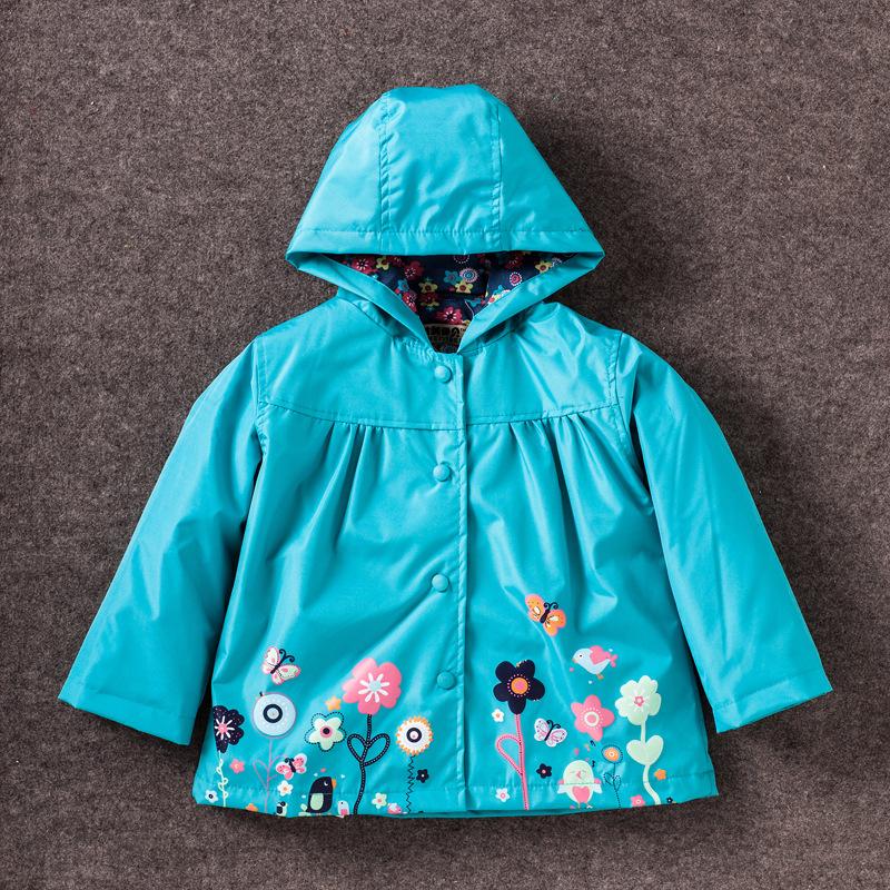 Spring Autumn Fashion Baby Girls Coat Hoodies Toddler Girls Cartoon Kids Jackets For Girl Children Outerwear(China (Mainland))