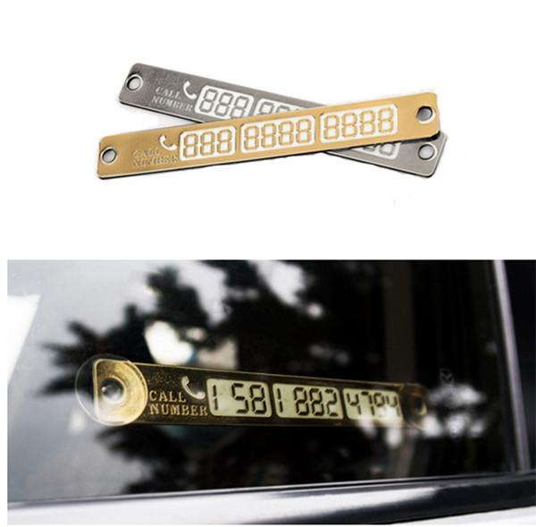 Temporary Parking Card Luminous Phone Number Card Plate For VW Passat B5 B6 CC Tiguan Golf 6 7 MK6 Polo Bora Jetta Accessories(China (Mainland))