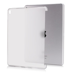 for ipad pro 9.7 case tpu back soft protect 2016 Semi-Bezel transparent can see logo with free gift+tracking number