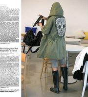 Европейский шинели военных женщин Череп печати кружева пэчворк черный зеленый белый жакет с капюшоном осень-зима