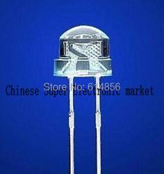 100PCS 5mm super bright white light-emitting diode DIP LED straw hat astigmia