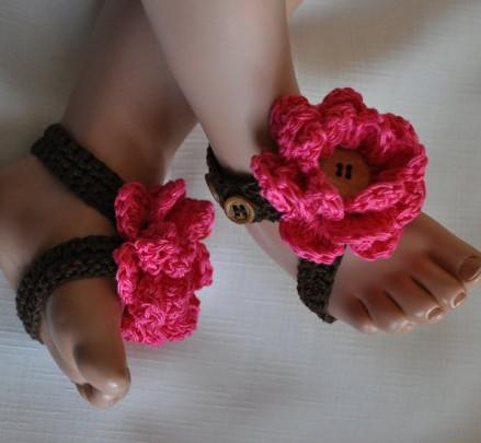 Sandalias pies descalzos para bebé paso a paso - Imagui