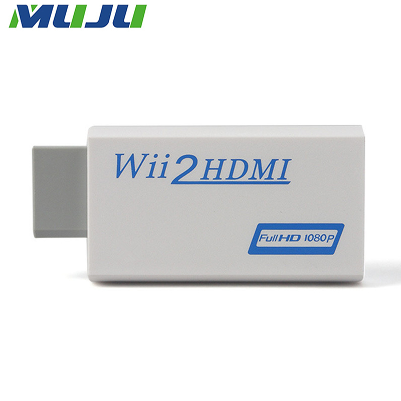200pcs/lot White For Wii to HDMI Adapter Wii2HDMI Converter Support FullHD 1080p 3.5mm Audio Video Output Wii Link Monitor TV PC(China (Mainland))
