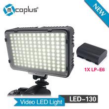 Buy Mcoplus 130 LED Video Light 1pcs LP-E6 Battery Canon Nikon Sony Pentax Panasonic Samsung Olympus & DV Camera Camcorder for $35.00 in AliExpress store
