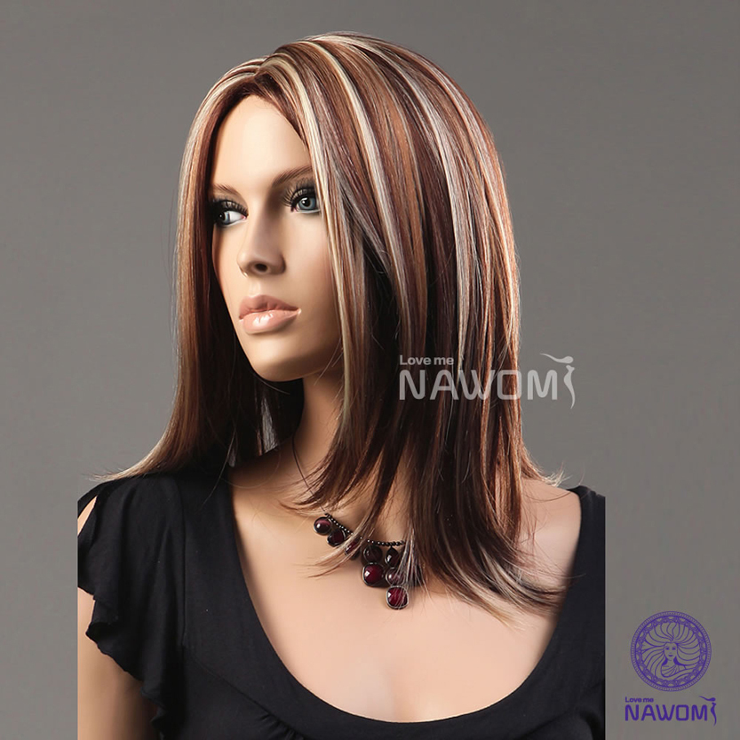 Long Straight Brown Hair With Blonde Highlights Long Brown Blond Straight