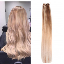Full Shine Stropez Balayage Hair Extensions Clip in Straight Human Hair Extensions Ombre Blonde Brazilian Hair With Lace 9pcs