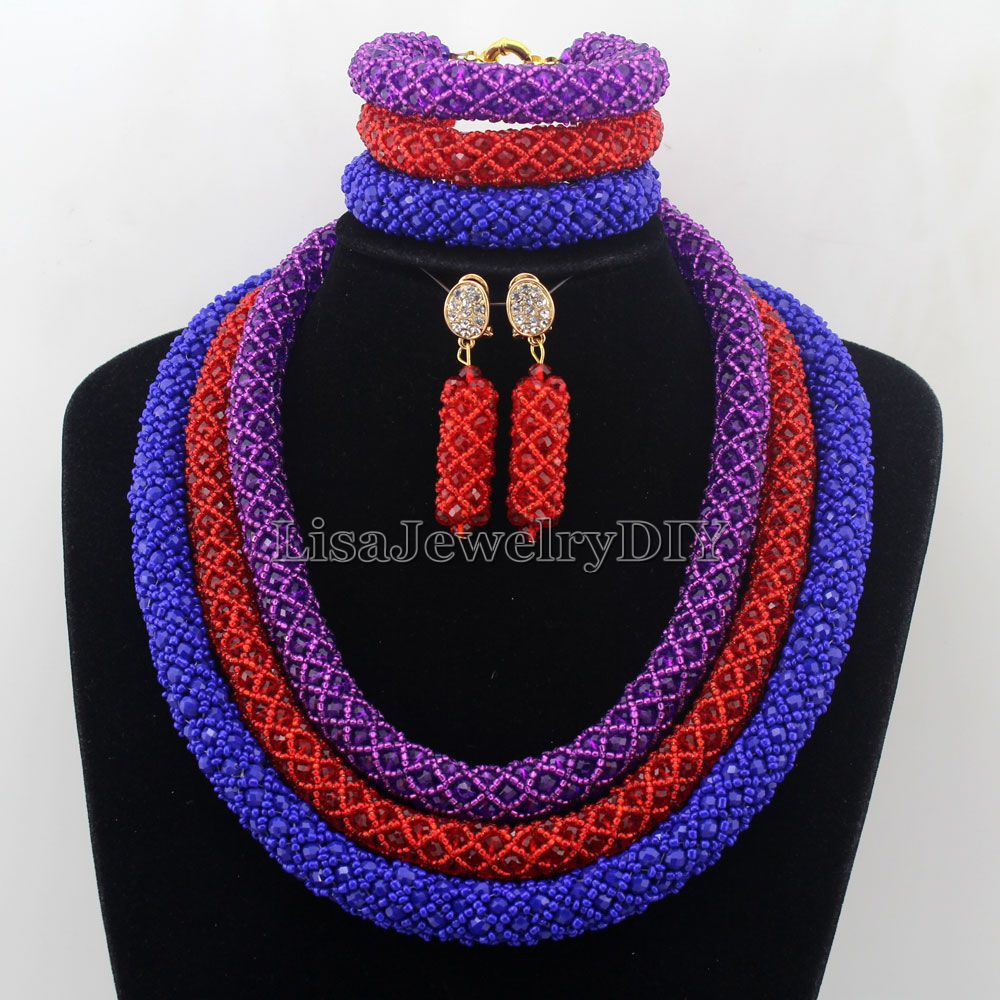 Splendid Statement Necklace African Jewelry Set African Crystal Jewelry Set for Wedding Statement Necklace Jewelry HD7476<br><br>Aliexpress