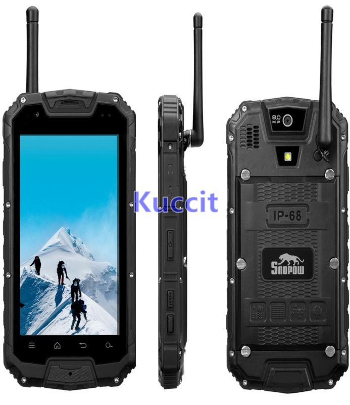 original M9 M8 Shockproof Android PTT Radio Walkie talkie MTK6582 IP68 rugged Waterproof phone