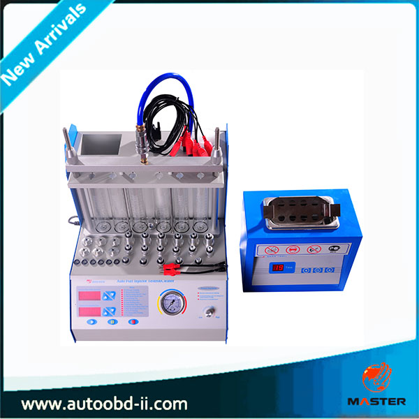 6 cylinder Fuel injector cleaning machine fuel injector tester & cleaner mst-a360 Ultrasonic cleaning machine(China (Mainland))
