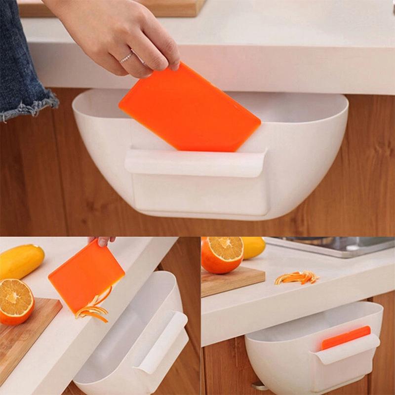 2016 NEW Cute Home Kitchen Cabinet Trash Storage Box Organizers Garbage Holder Portable(China (Mainland))