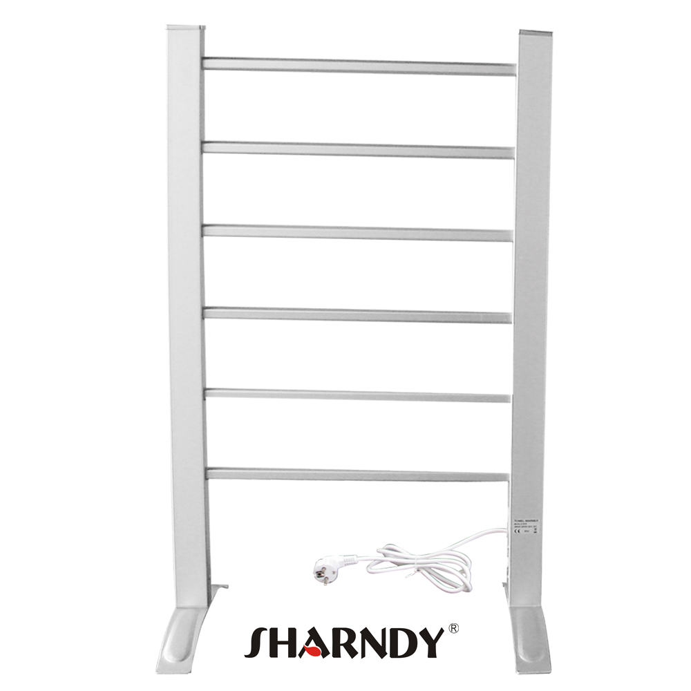 SHARNDY Factory Price Heated Towel Rack Free Standing Wall Mounted Electric T