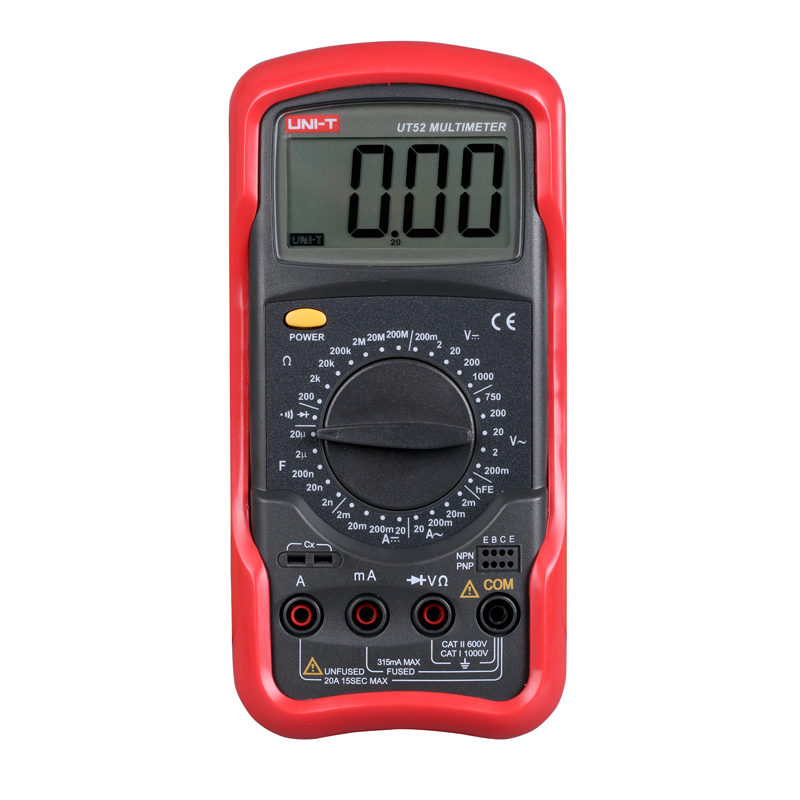 UNI-T UT52 Universal Digital Multimeter Handheld DC/AC current voltage Capacitance Double-Integral A/D Converter(China (Mainland))