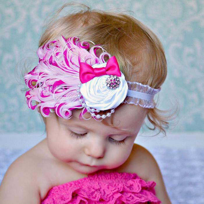 sombreros bebé vinchas gran flor del lazo del pelo de las niñas en ...