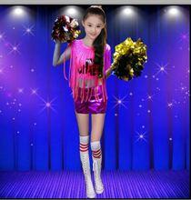 Hip-hop jazz dance costumes clothing for children cheerleading Cheerleading performance clothing Aerobics Games clothing(China (Mainland))