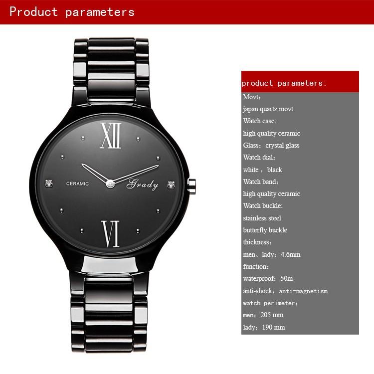 2016 Известный бренд мужской часы моды керамические часы мужчины кварцевые наручные часы падения бесплатная доставка