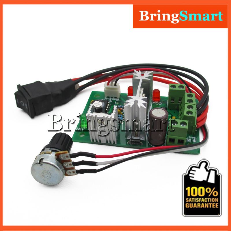 Hot 6V PWM 12V DC Motor Speed Control 24v 30 volt 6A Pulse Width Modulator Switch Adjuster Backward Reversed Driver Controller(China (Mainland))