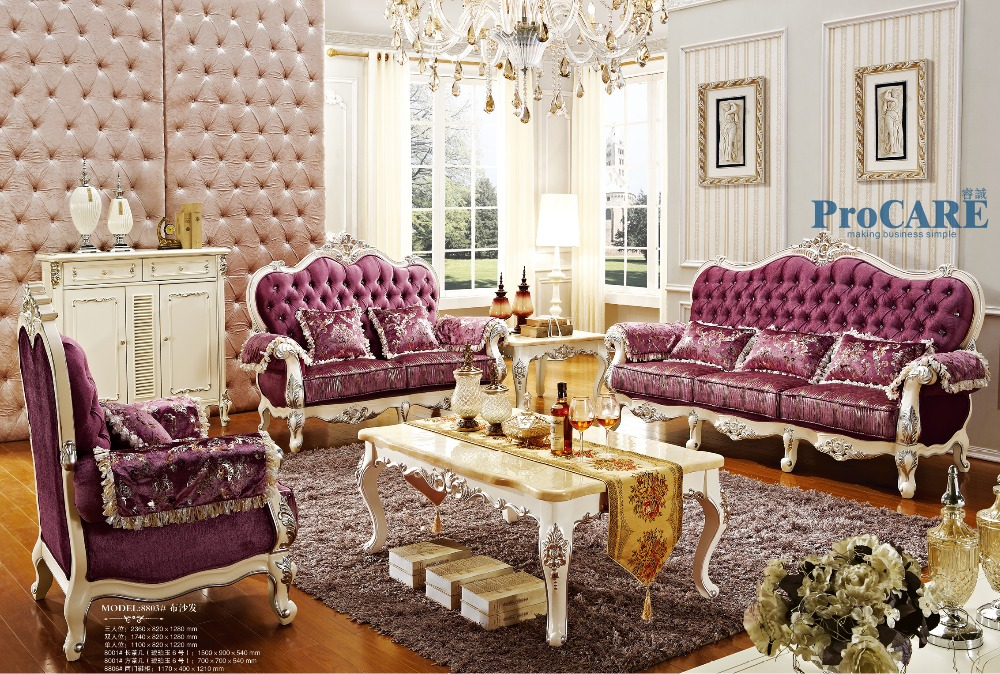luxury italian oak solid wood purple fabric sectional sofas set living room furniture with coffee table,shoes cabinet China-8803(China (Mainland))
