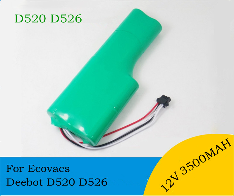 12V 3500mAh NI-MH Replacement Battery pack SC for Ecovacs Deebot D520 D526 sweeper robot t3 T5 Vacuum Cleaner Battery(China (Mainland))
