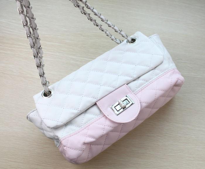 2Pcs Korea Style Rivet Satchel Shoulder Bag Black PU Leather Handbag