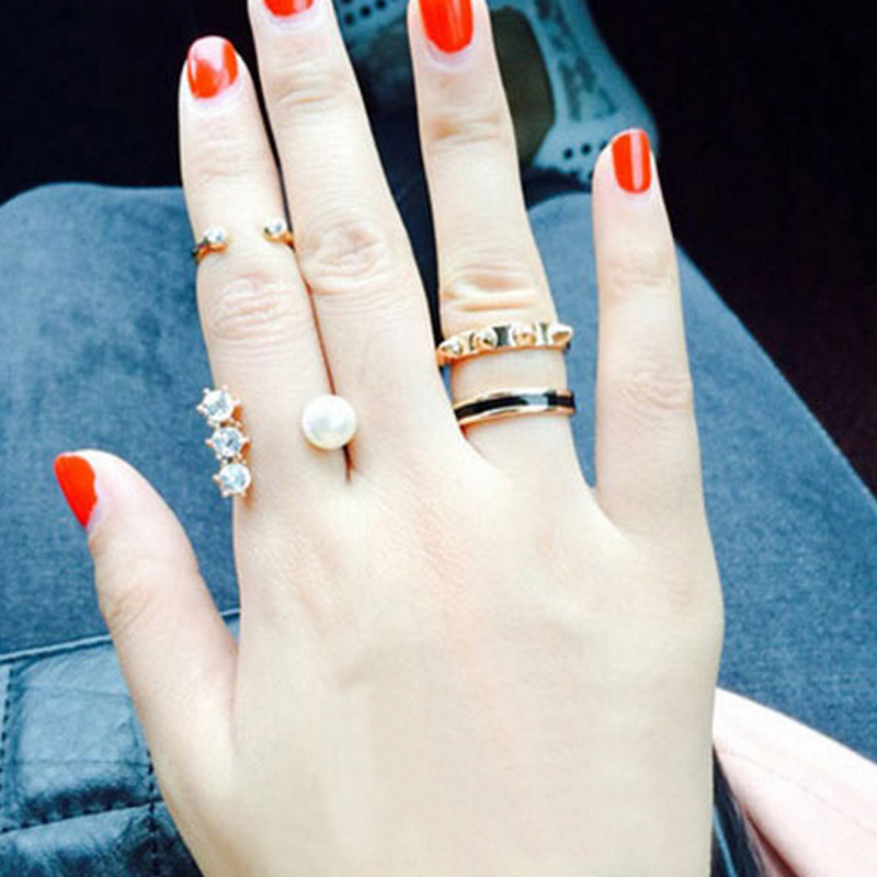 3pcs/lot Fashion Jewelry Gold Mini Knuckle Joint Rings Set for Women(China (Mainland))