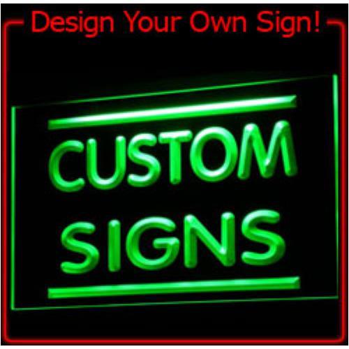 Tm custom led neon light sign order design your own light for Design your own house sign