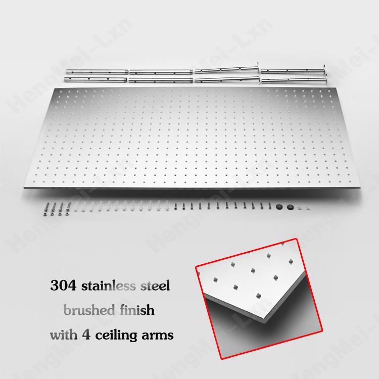 Jiangmen factory supply rectangular shower head. 400*800mm ceiling mounted big rainfall shower parts(China (Mainland))