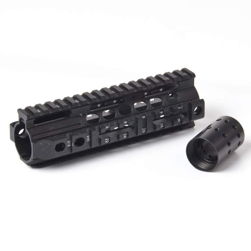 Aluminum Quad Rail 4-weaver/picatinny Carbine Rifle Free Floating 7.25 inch Handguard QD Swivel Housing Airsoft AR15 M4/16 - Sinairsoft Trading Ltd store