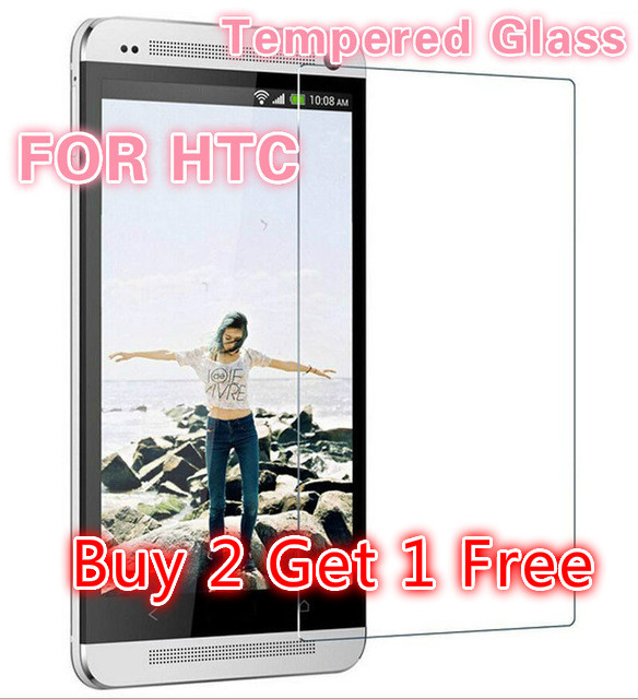 Buy 2 Get 1 Free 0.33 mm tempered glass screen protector film M7 applies to HTC ONE M7 M9 M8 E9 explosion-proof membrane(China (Mainland))