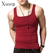 Mens Bodybuilding Tank Tops 2016 New Square Collar Tank Top Shirt Fitness Men Summer Vest Gym Clothing Singlet 8 Colors M-3XL