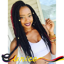 Hot Sale 18 Inches Free Shipping Senegalese Twist Synthetic Crochet High Quality Crochet Braids Havana Mambo Twist Braiding Hair