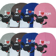 0-2 years I love MOM Love DAD cotton   baby hat cap Girl Boy  Candy Color Lovely kids Baby Beanies Accessories(China (Mainland))