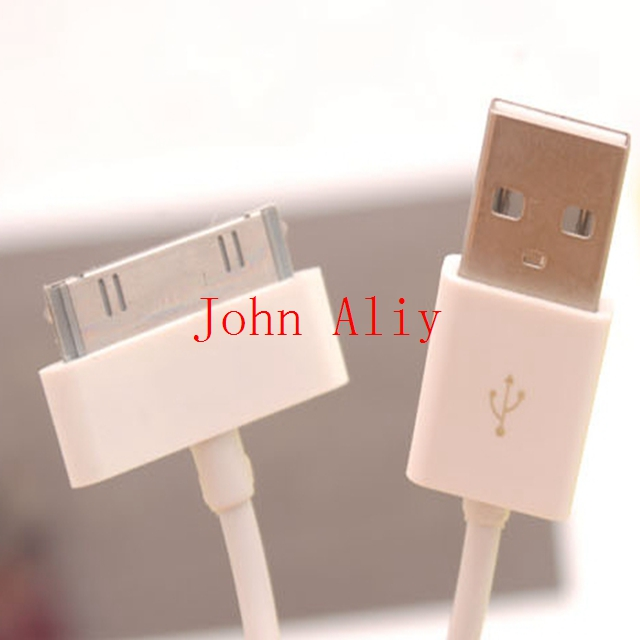 Free shipping useful 1m USB Sync Data Charging Charger Cable Cord for Apple iPhone 3GS 4 4S 4G iPad 2 3 iPod nano touch Adapter(China (Mainland))