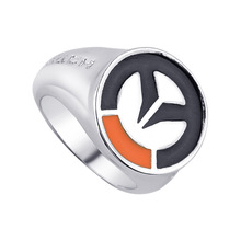 Buy Cosplay male Jewelry Friendship Gift Ring Hot Game Overwatch OW Silver Men Women Rings for $1.21 in AliExpress store