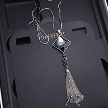 Buy 2017 Zircon Snowflake Long Necklace Sweater Chain Fashion Fine Crystal Tassel Rhinestone Flower Pendant Necklace Jewelry for $2.19 in AliExpress store