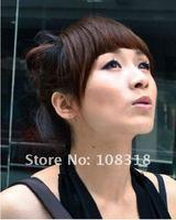 Мода 100% реальные человеческие волосы челки / полосы, обе стороны длинные волосы полос, наращивание волос, 30g толще стиль