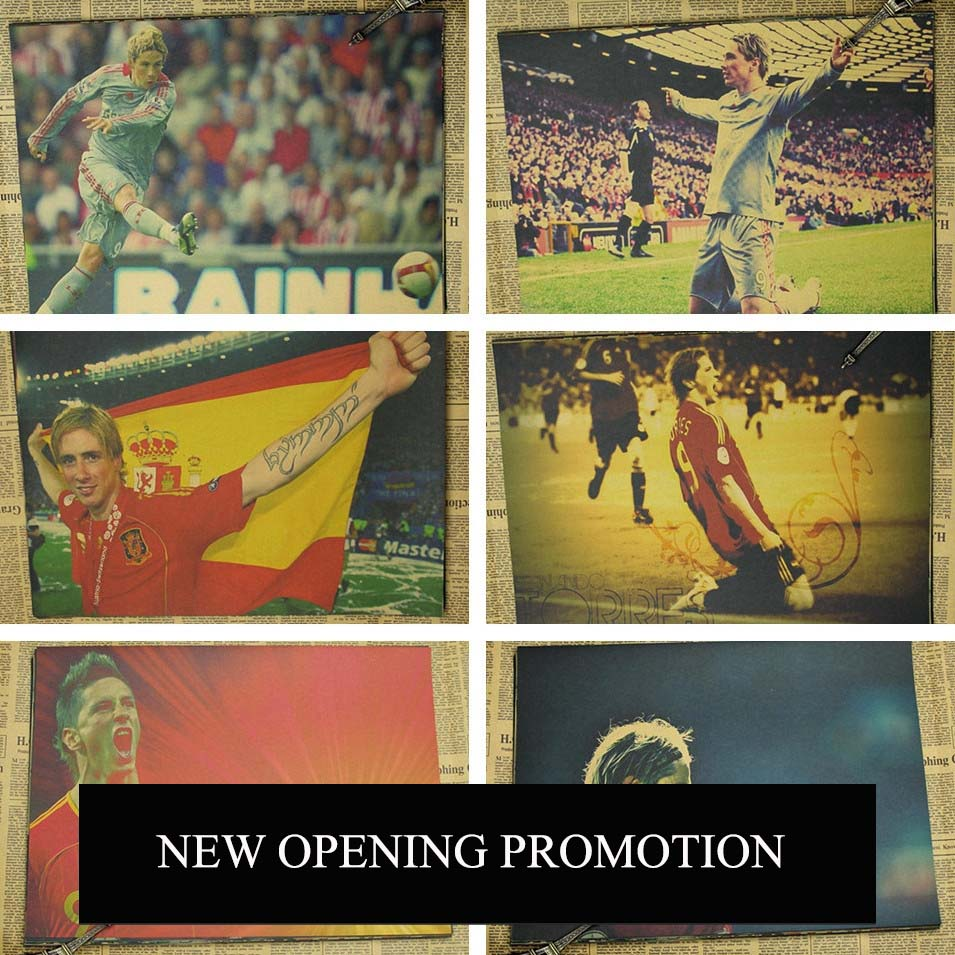 Torres Poster Football Spanish National Team Star Wall Sticker Painting Bar Home Decoration(China (Mainland))